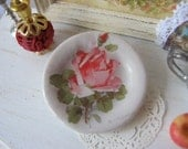 Pink Catherine Rose Plate for Dollhouse