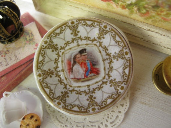 William Edwards Royal Wedding Plate for Dollhouse
