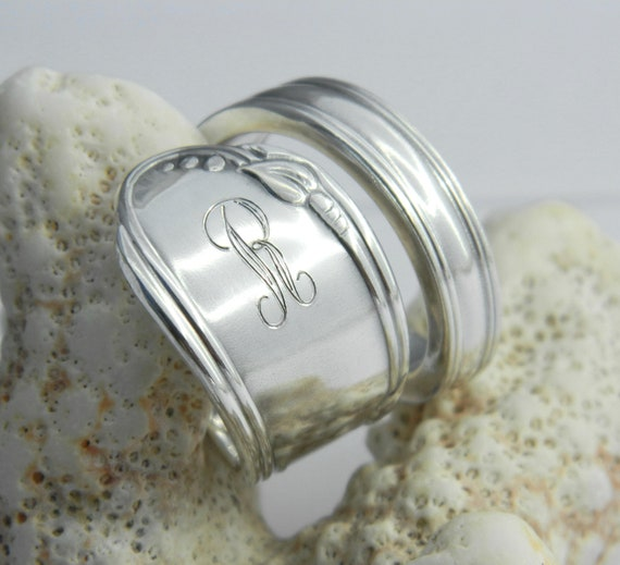 items similar to personalized spoon ring silver spoon