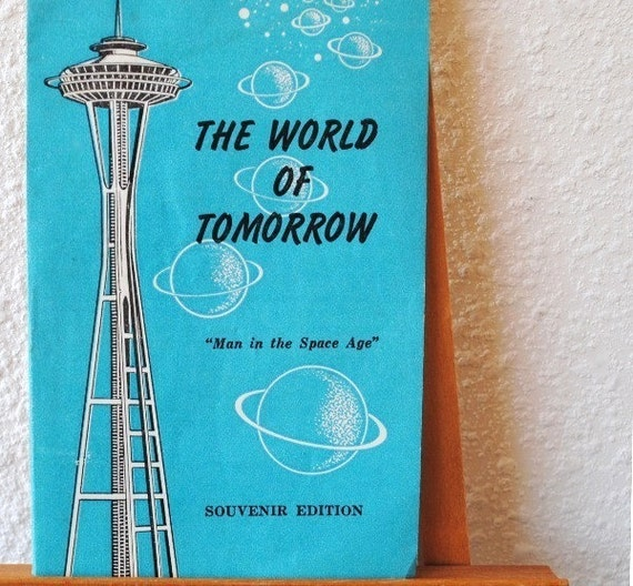 1962 Seattle Worlds Fair Souvenir Space Needle Booklet, Man in the Space Age Religious Brochure