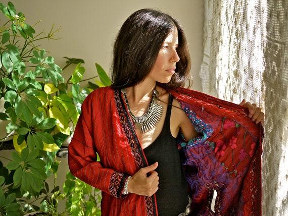 Vintage Afghanistan Turkoman Chapan Tribal Coat