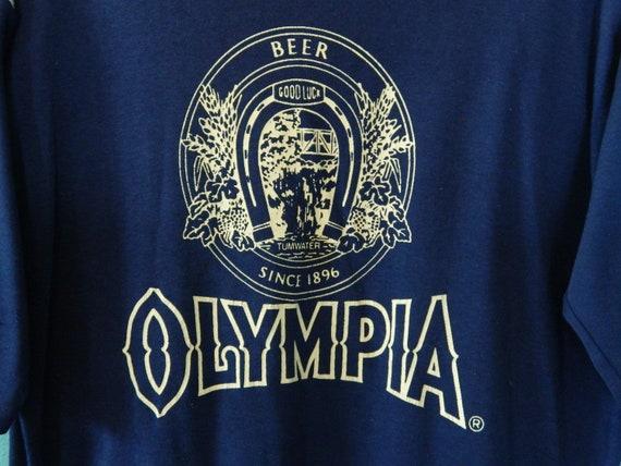 vintage 70s olympia beer ringer t shirt size l. Black Bedroom Furniture Sets. Home Design Ideas