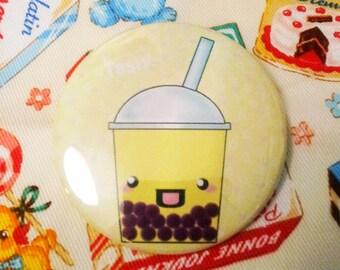 Tasty bubble tea banana 2.25 inch pinback button
