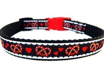 "Oktoberfest Dog Collar 3/4"" German Pretzel Fun Dog Collar"