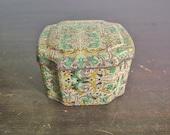 vintage lidded decorative tin box by Elite