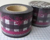 Japanese Masking Tape - BOLD Check Ribbon : Purple