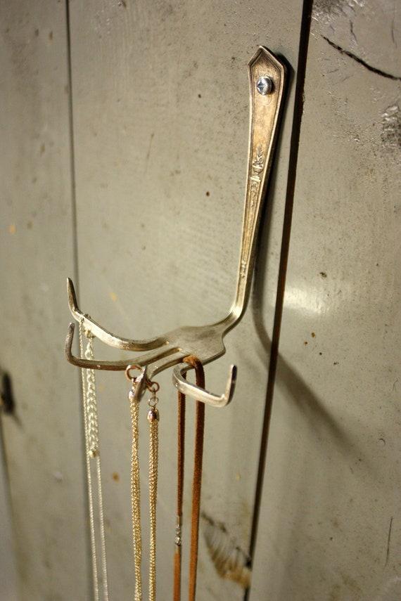 Fork Necklace Holder (TM)- Repurposed Fork - Vintage Gift - For Such A Time Designs Original 2012