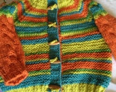 Bright Stripes Sweater Hand Knit
