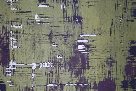 Medium print, silk screen print, green and purple print, abstract art, screen printing, fine art, ooak