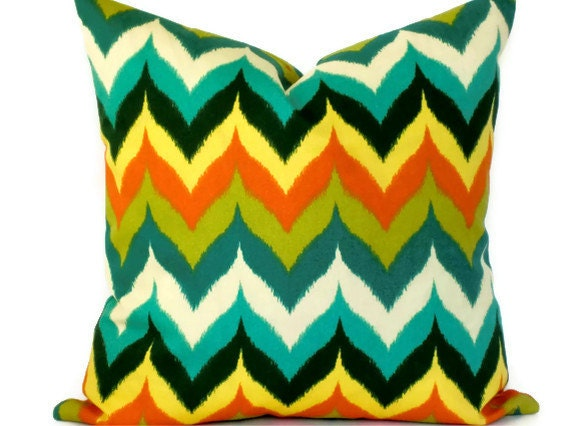 Decorative pillow cover -Accent Pillow - 18X18, 20X20, 12X18 - Throw Pillow - Swavelle Mill Creek - Indoor Outdoor Glamis Oasis