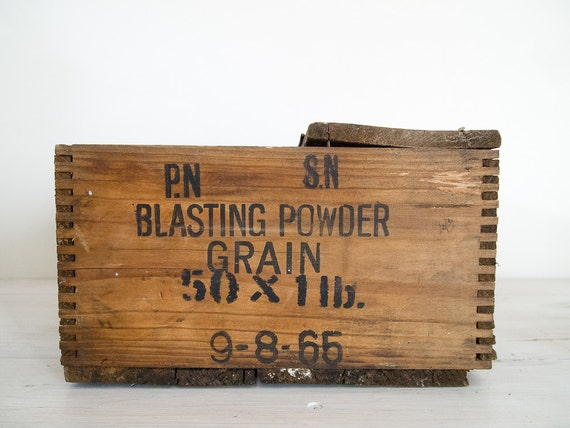 reserved for ashlyn - vintage industrial wooden ammunition crate