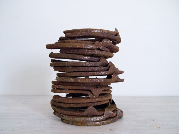 vintage rusty horseshoes from australia