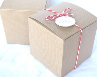 BRoWN KRaFT GiFT BoXeS-4x4x4-DIY Crafts,party favors, weddings, shabby chic wedding, gifts-10ct