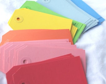 24CoLoReD TaGs--SMALL-for Gifts,party favors, scrapbooking--24ct