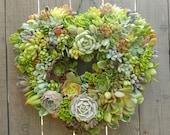 Succulent Wreath, Heart Shaped Succulent Wreath, Fall Wedding, Wedding Decor, Fall Wedding Table, Fall Wreath, Housewarming Gift