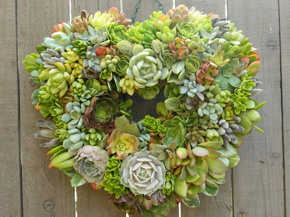Succulent Wreath, Heart Shaped Succulent Wreath, Fall Wedding, Wedding Decor, Fall Wedding Table, Fall Wreath, Housewarming Gift