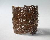 Copper Cutout cuff with beading