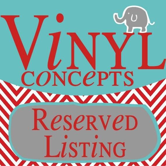 Reserved Listing for vanessa
