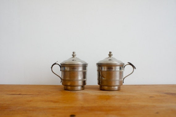 RESERVED  vintage french coffee drip o lator, set of two