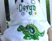Cuddly  Hooded Towel for Baby Girls and Boys - Personalized FREE