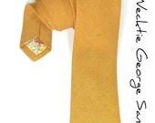 Wedding Mens Necktie George Sanders- Yellow Saffron Tie - speaklouder
