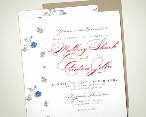 Classic Winter Wedding Invitation