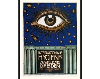 Art Nouveau Exhibition poster - Art Nouveau advertisement - old poster fine art print, P095