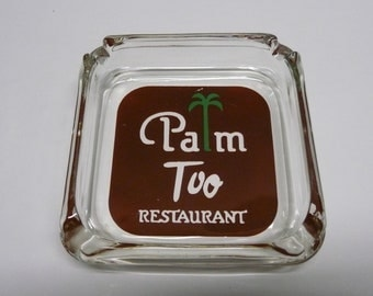 Palm Too  New York  City Famous Steakhouse Ashtray Landmark History Restaurant  Tobacciana Cigarette Collectable Advertising