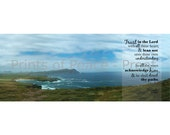 Trust in the Lord - Ireland Coast View - 8 x 20 Print or Frameless Mount