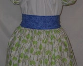 Adorable Peasant Dress with petticoat -12 mos, 2T, 3T, 4T, 5T