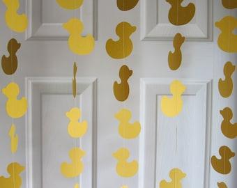 Paper Garland, Duck Garland, Baby Shower Garland, Baby Shower Decorations, Rubber Duckie Decorations, Duckling Garland, Waddle It Be