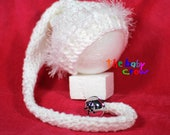 Crochet Baby Hat - Baby Elf Hat - Baby Girl Winter Hat - Detachable Bell