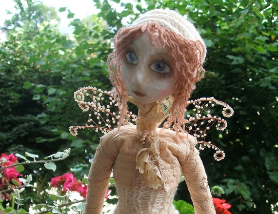Ooak art doll -  Fairy Ella - soft sculpted