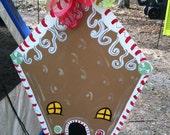 Ginger Bread House Door hanger Christmas Holidays