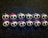 skull earrings /  jewelry / photo prop