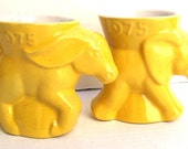 elephant donkey Coffee mugsFrankoma political washington dc politician office cubicle retro bright yellow
