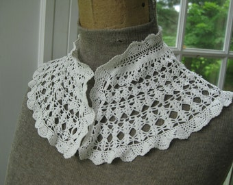 Summer Lace Ivory Crochet Collar - Plain Jane to Pygmalion in 2 Shakes of a Lamb's Tail