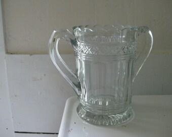 Vintage Pressed Glass Spooner Sugar Bowl Vase - Sweetheart Got a Sweet Tooth