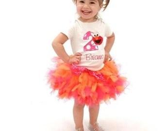 Personalized Elmo Birthday Tutu Set