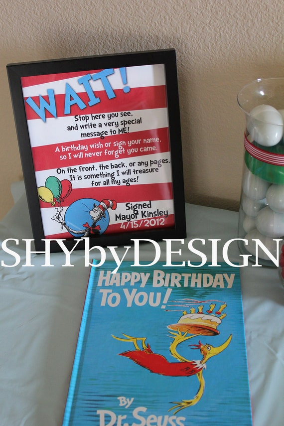 personalized printable dr  seuss birthday book sign  u0026 by