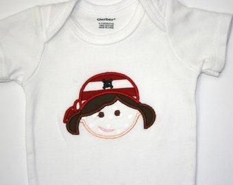 Baby Girl Pirate Onesie