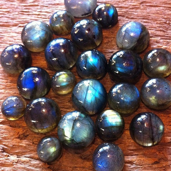 Labradorite Cabs Round Small Perfect for Rings Small Pendant and Earrings Sold Per gram