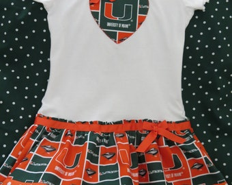 UM inspired cheerleader dress