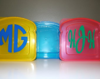 Monogram Personalized Sandwich Container
