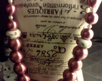 Fashion Pink Bead Necklace
