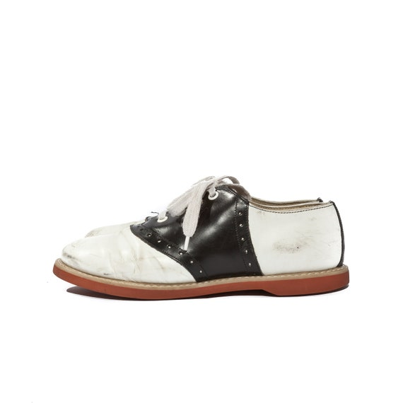 vintage saddle church shoes black and white oxfords