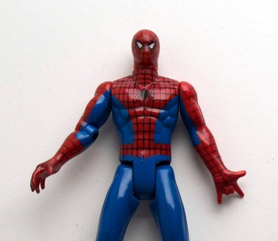 Spiderman Action Figure, 1992 Vintage, Web shooting Spidey, Marvel Comics