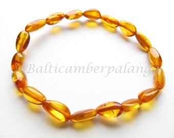 Baltic Amber Cognac Color Bracelet