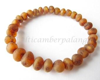 Raw Unpolished Baltic Amber Bracelet