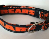 Chicago Bears dog collar... Your choice of size